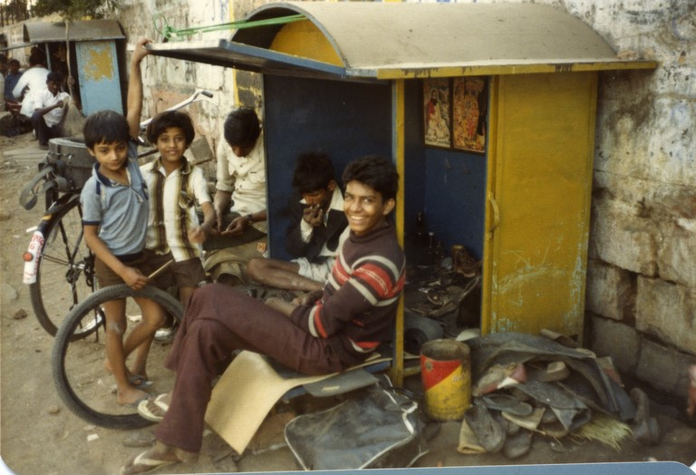 Bhopal 1985 shoe repair shop