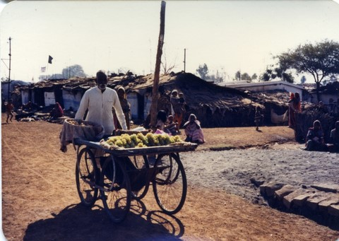 Bhopal, 1985, slums across from Union Carbide plant